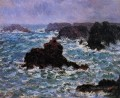 BelleIle Rain Effect Claude Monet