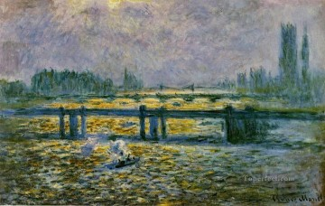 Charing Cross Bridge Reflections on the Thames Claude Monet Oil Paintings