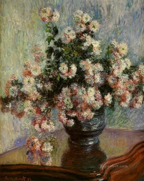 Monet Oil Painting - Chrysanthemums Claude Monet