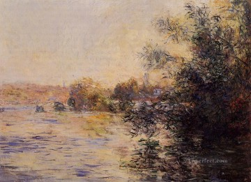 monet banks of the seine Painting - Evening Effect of the Seine Claude Monet