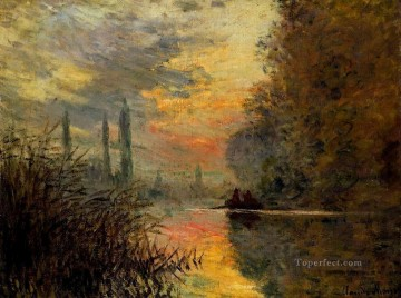 Argenteuil Canvas - Evening at Argenteuil Claude Monet