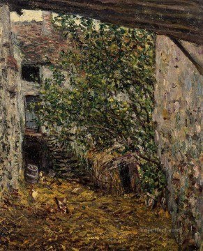 farm Works - Farmyard Claude Monet