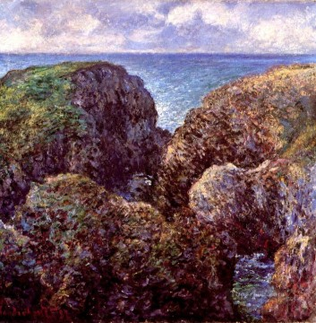 Claude Monet Painting - Group of Rocks at PortGoulphar Claude Monet
