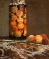 Jar of Peaches Claude Monet