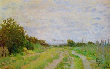 Argenteuil Canvas - Lane in the Vineyards at Argenteuil Claude Monet
