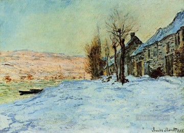 Sun Oil Painting - Lavacourt Sun and Snow Claude Monet