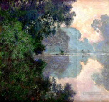 Morning Painting - Morning on the Seine near Giverny Claude Monet