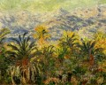Palm Trees at Bordighera Claude Monet