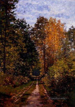 Monet Oil Painting - Path in the Forest Claude Monet