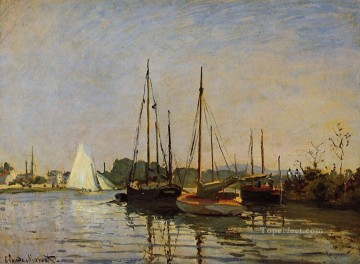 boat art painting - Pleasure Boats Claude Monet
