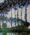 Poplars on the Banks of the River Epte Overcast Weather 莫奈