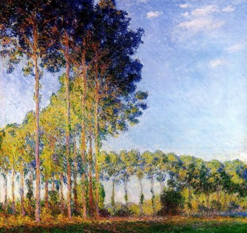 monet banks of the seine Painting - Poplars on the Banks of the River Epte Seen from the Marsh Claude Monet