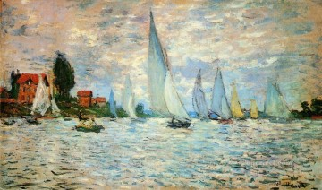 Argenteuil Canvas - Regatta at Argenteuil II Claude Monet