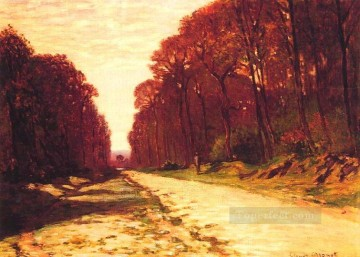 Road Oil Painting - Road in a Forest Claude Monet