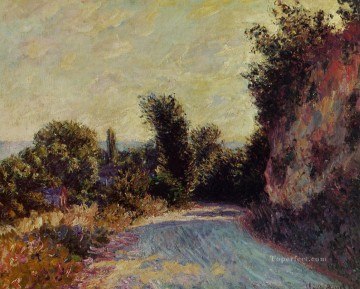 Road Oil Painting - Road near Giverny Claude Monet