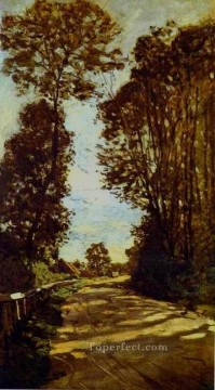 Road Oil Painting - Road to the SaintSimeon Farm Claude Monet