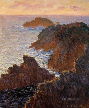 Rocks at BelleIle PortDomois Claude Monet Oil Paintings