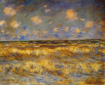 Monet Oil Painting - Rough Sea Claude Monet