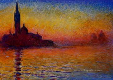 San Giorgio Maggiore at Dusk Claude Monet Oil Paintings