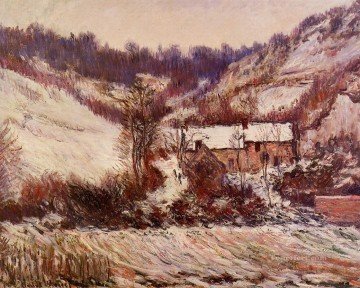 Snow Effect at Limetz Claude Monet Oil Paintings