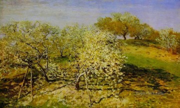Springtime aka Apple Trees in Bloom Claude Monet Oil Paintings