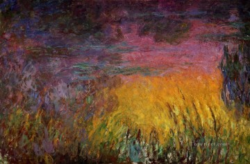 Sun Oil Painting - Sunset left half Claude Monet