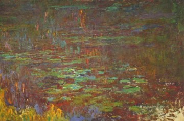 Sun Oil Painting - Sunset right half Claude Monet
