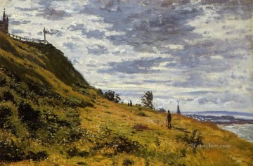 Cliffs Painting - Taking a Walk on the Cliffs of SainteAdresse Claude Monet