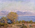 The Alps Seen from Cap d Antibes Claude Monet