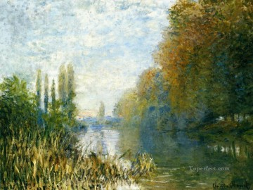 mornings on the seine monet Painting - The Banks of The Seine in Autumn Claude Monet