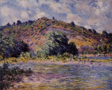 monet banks of the seine Painting - The Banks of the Seine at PortVillez Claude Monet