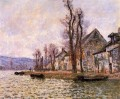 The Bend of the Seine at Lavacourt Winter Claude Monet