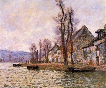 monet banks of the seine Painting - The Bend of the Seine at Lavacourt Winter Claude Monet