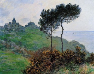 Church Art - The Church at Varengaville Grey Weather Claude Monet