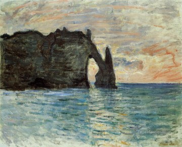 Etretat Art - The Cliff at Etretat Claude Monet