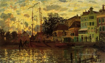The Dike at Zaandam Evening Claude Monet Oil Paintings