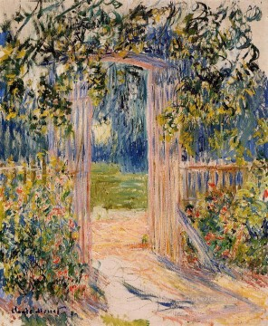 garden Oil Painting - The Garden Gate Claude Monet