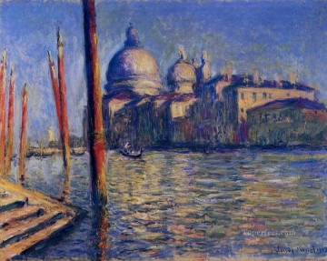 Della Painting - The Grand Canal and Santa Maria della Salute Claude Monet