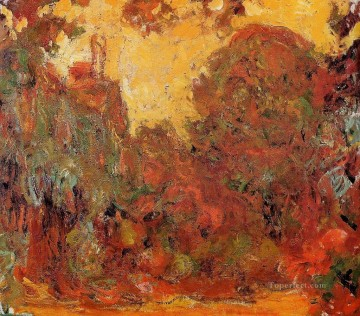 garden Oil Painting - The House Seen from the Rose Garden II Claude Monet