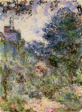 Garden Art - The House Seen from the Rose Garden III Claude Monet