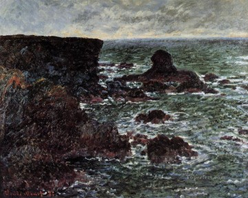 The Lion Rock BelleIleenMer Claude Monet Oil Paintings