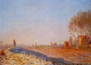 plain Art - The Plain of Colombes White Frost Claude Monet