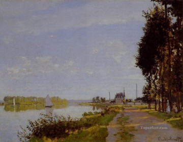 Argenteuil Canvas - The Promenade at Argenteuil Claude Monet
