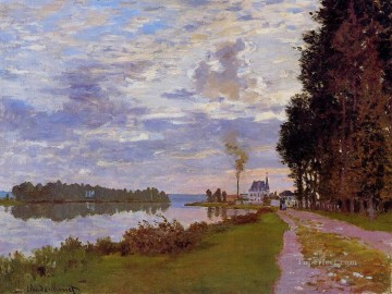 Argenteuil Canvas - The Promenade at Argenteuil II Claude Monet