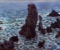 The Pyramids of Port Coton BelleIleenMer Claude Monet
