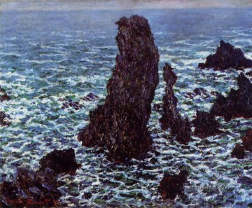 The Pyramids of Port Coton BelleIleenMer Claude Monet Oil Paintings