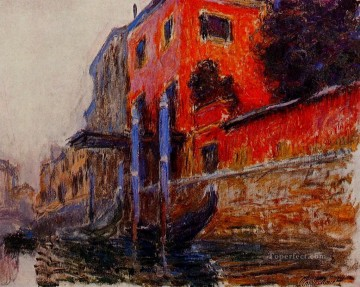 red Oil Painting - The Red House Claude Monet
