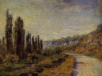 Road Oil Painting - The Road from Vetheuil Claude Monet