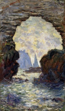 Porte Painting - The Rock Needle Seen through the Porte d Aumont Claude Monet