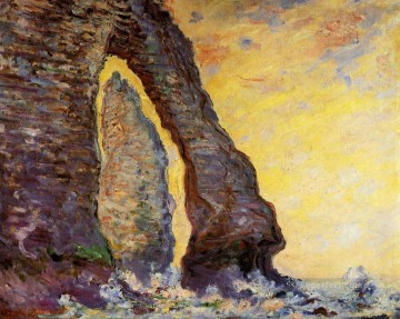Porte Painting - The Rock Needle Seen through the Porte d Aval Claude Monet